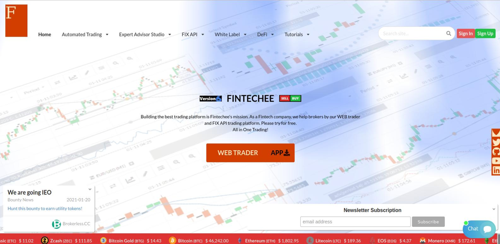 FIX API Trading Platform serves as Fintechee WEB Trader's FIX Engine. FIX API Trading helps traders have lower execution time