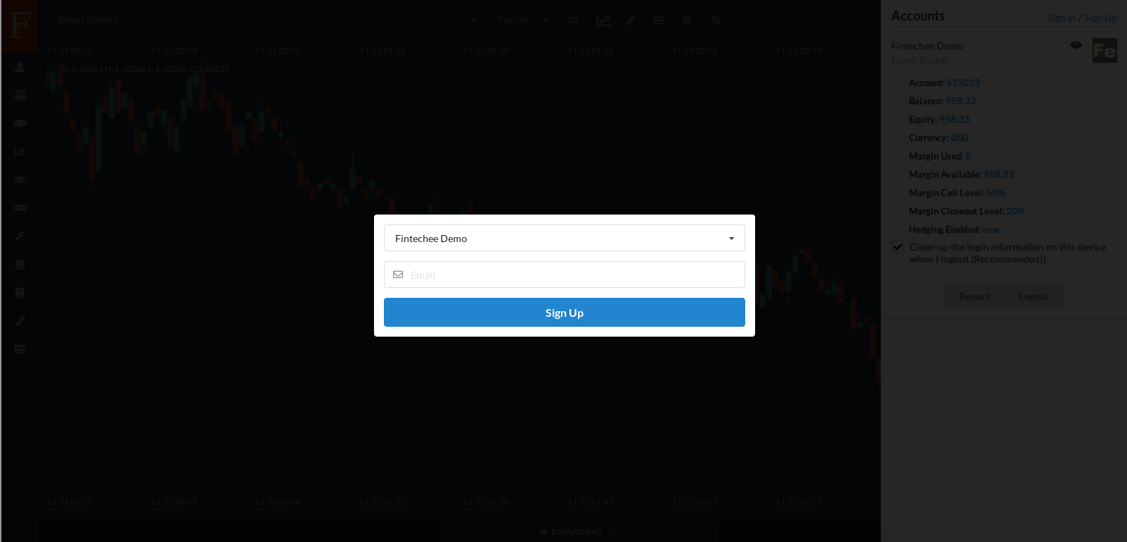 Tutorial for Forex Trading | Basic Functions | Sign up - Fintechee